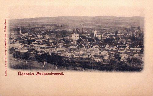Szászváros-Broos-Orastie:látkép.1899