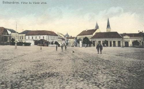 Szászváros:főtér és vásár utca.1911