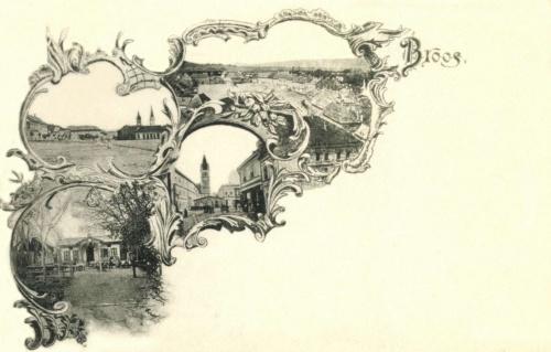Szászváros:Főtér,református kollégium,1899.