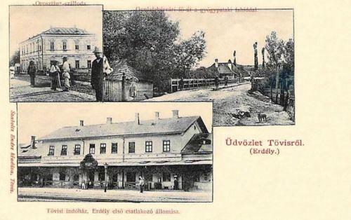 Tövis-Dreikirchen-Teius:indóház,Oroszlán szálloda.1901