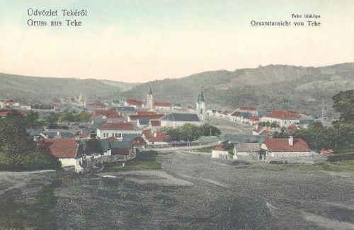 Teke:látkép a templomokkal.1910