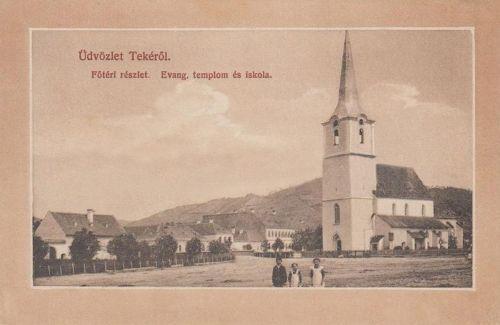 Teke:evangélikus templom és iskola.1911