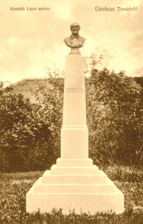 Tenke:Kossuth szobor.1908