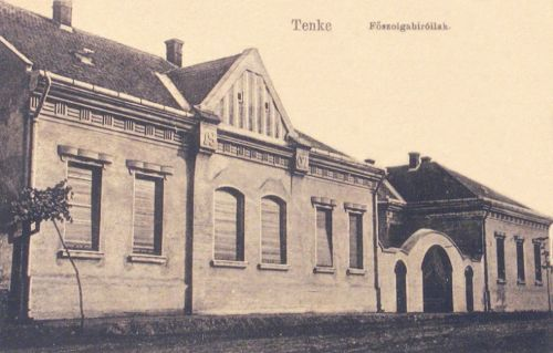Tenke:főszolgabirói lak.1912