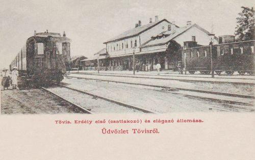 Tövis:Erdély első csatlakozó és elágazó vasútállomása.1903