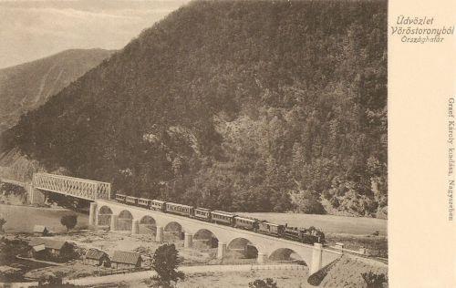 Vöröstorony:országhatár a vasúti hiddal.1903