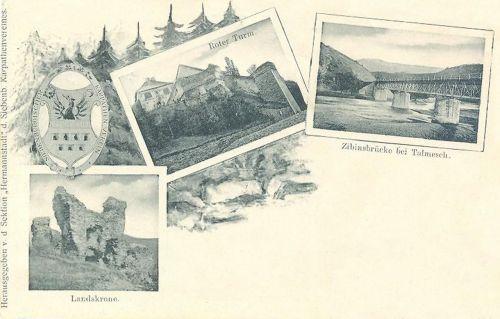 Vöröstorony:vár,hid és romok.1899