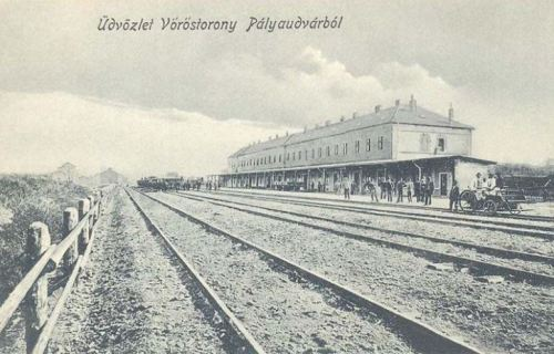 Vöröstorony:vasútállomás.1908