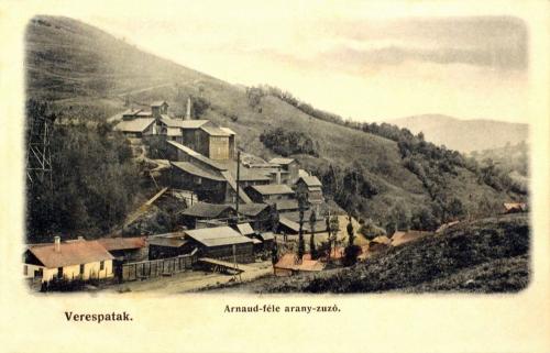 Verespatak-Goldbach-Rosia Montana:Arnaud féle arany zúzó.1905