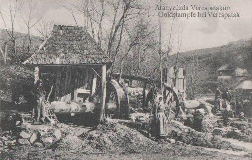 Verespatak:aranyzúzda malom.1915