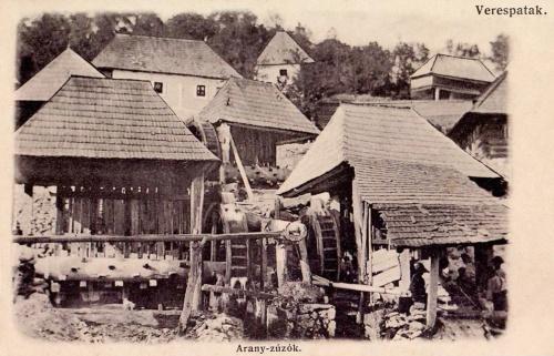 Verespatak:arany zúzó malmok.1906
