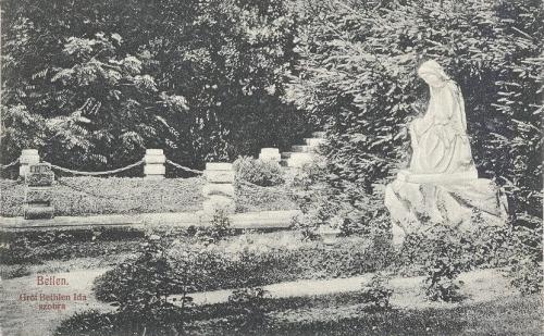 Bethlen:gróf Bethlen Ida szobra a temetőben.1908