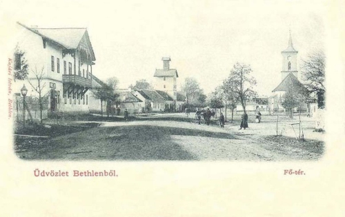 Bethlen-Bethlensdorf-Beclean:Főtér.1902