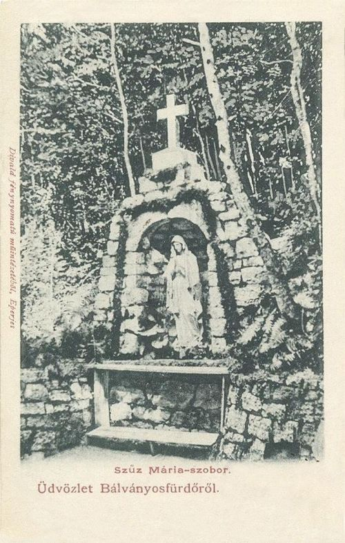Bálványosfürdő:szűz Mária szobor.1903