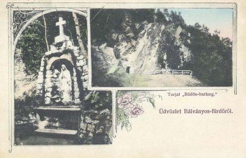 Bálványos-fürdő:kápolna és torjai büdös barlang.1906