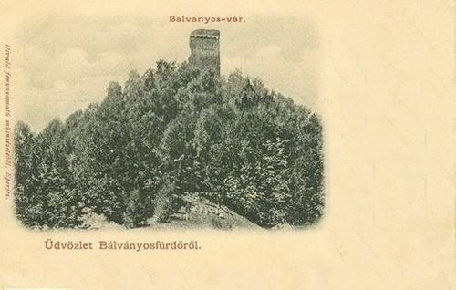 Bálványosvár:vár látképe.1904