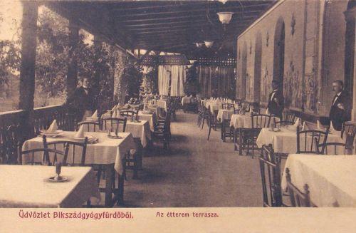 Bikszádfürdő:étterem terasza.1903