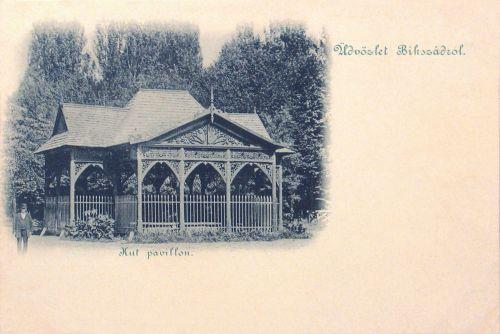 Bikszád-Bixad:borviz kút pavilon.1899
