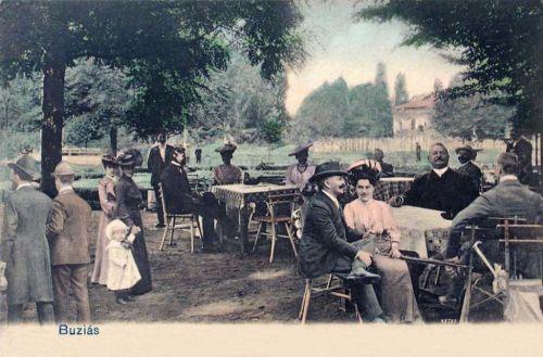 Buziásfürdő:étterem terasza.1902