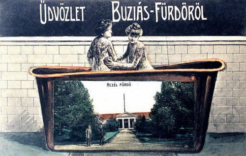 Buziás-fürdő:Aczél fürdő.1909