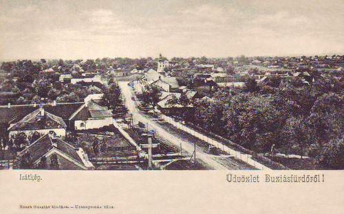Buziás:látkép a templommal.1904