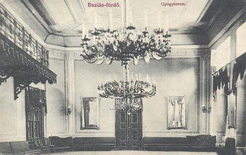 Buziásfürdő:Gyógyterem belseje.1908