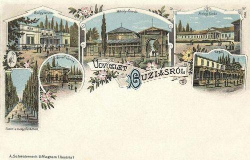 Buziásfürdő-Buzias-Busiasch:Gyógyterem,József forrás,Meleg fürdő,Bazár.1898