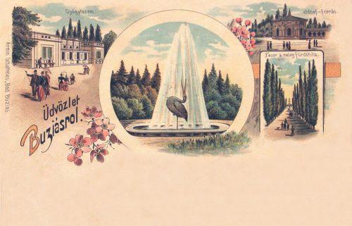 Buziásfürdő:Gyógyterem.1899