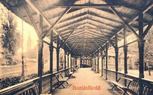 Buziásfürdő:fedett sétány belseje.1911