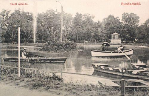 Buziásfürdő:Szent Antal tó csónakokkal.1908