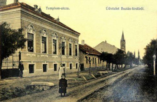 Buziás:templom utca.1912