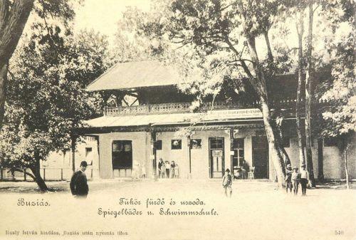 Buziás:Tükör fürdő és úszoda.1904