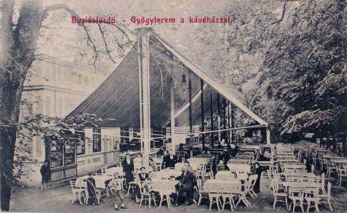 Buziásfürdő:Gyógyterem a kávéházzal.1910