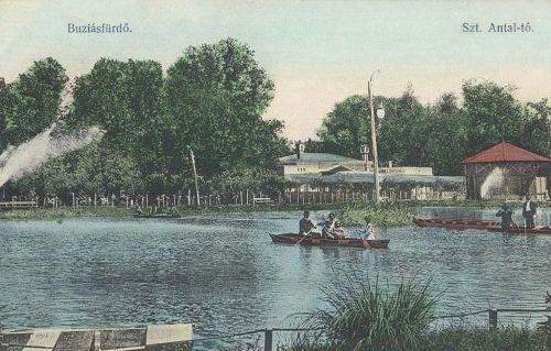 Buziásfürdő:Szent Antal tó.1911