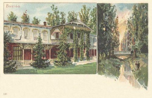 Buziás:Bazár és hid.1899