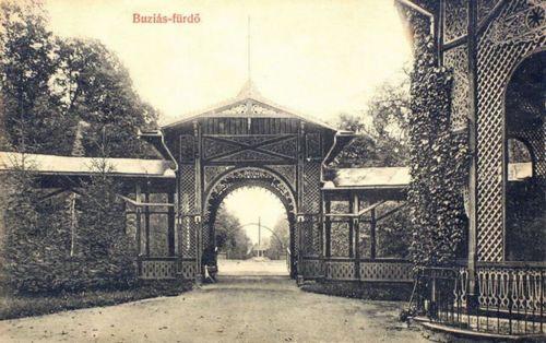 Buziásfürdő:fedett sétány.1908