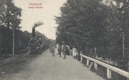 Félix:vasútállomás,gőzmozdonnyal.1909
