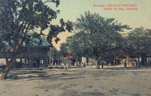 Félixfürdő:Alföld és Nép szálloda.1910