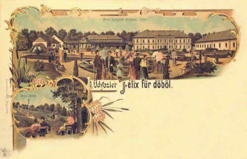 Félixfürdő-Baile Felix-Bad Felix:Viktor szálloda és vasútállomás.1897