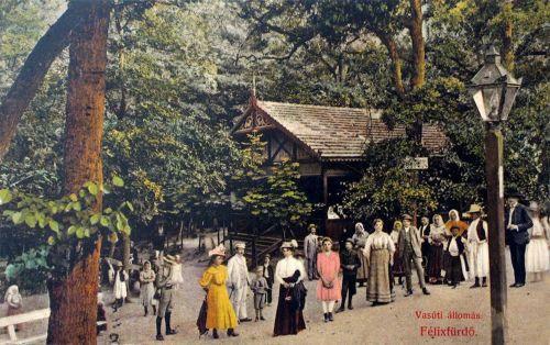Félixfürdő:vasútállomás.1909