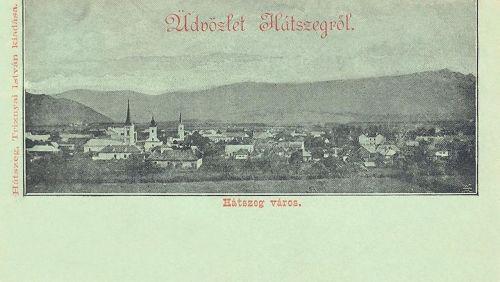 Hátszeg-Hatzeg-Hateg:a város látképe.1899