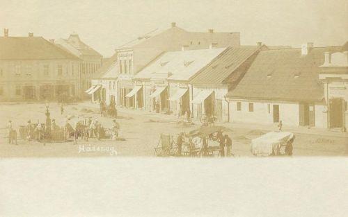 Hátszeg:főtéri vásár.1903
