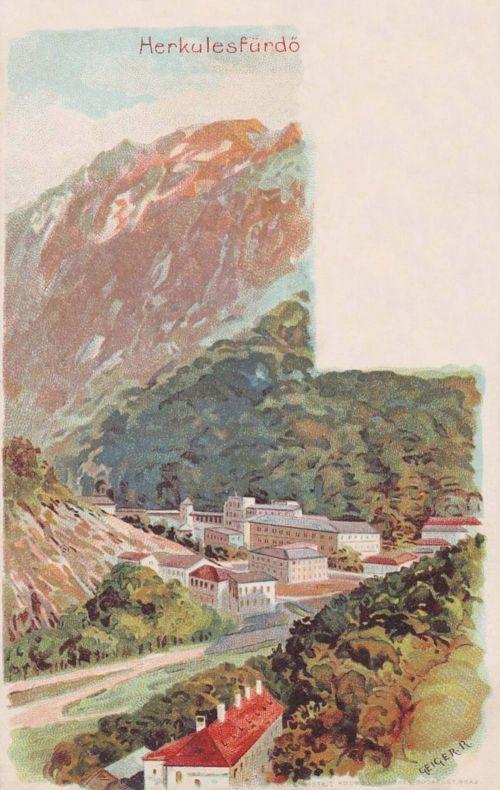 Herkulesfürdő:látkép.Geiger lito.1899