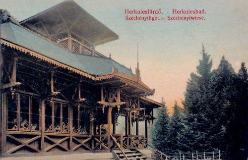 Herkulesfürdő:Széchenyi liget.1908