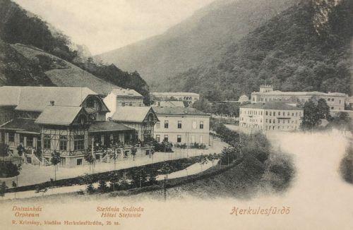 Herkulesfürdő:Dalszinház és Stefánia szálloda.1902