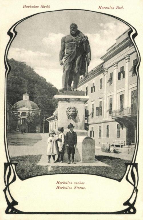 Herkulesfürdő:Herkules szobor,1904.