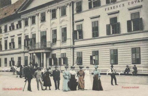 Herkulesfürdő:Ferencz udvar.1909
