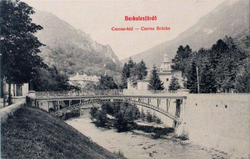 Herkulesfürdő:Cserna hid.1909