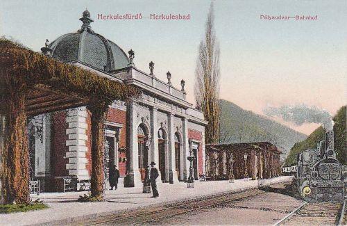 Herkulesfürdő:vasútállomás.1915