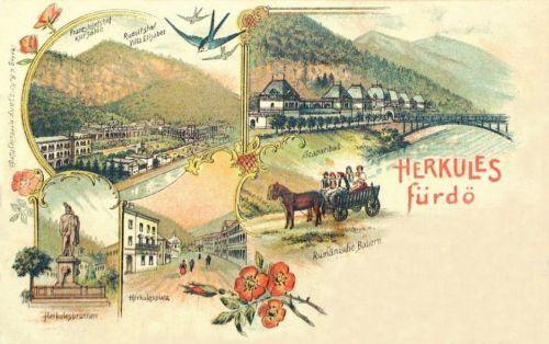 Herkulesfürdő-Baile Herculane-Herkulesbad:kőnyomat.1898